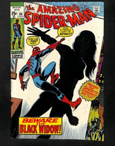 Amazing Spider-Man #86 FN- 5.5 Origin of Black Widow! Marvel Comics Spiderman