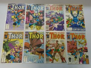 Copper Age Thor comic lot 35 different from #350-398 average 7.0 FN VF (1985-89)