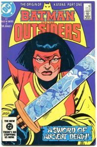 BATMAN AND THE OUTSIDERS #11-ORIGIN OF KATANA--ARROW TV SHOW-1984