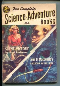TWO COMPLETE SCIENCE-ADVENTURE BOOKS-WINTER 1953-ANDERSON-J D MACDONALD-PULP-fn