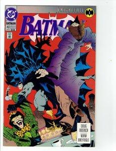 Batman #492 - 2nd Print - Knightfall part 1 - 1992 - VF