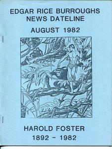 Edgar Rice Burroughs News Dateline 8/1982-Tarzan-harold Fisher tribute-VF