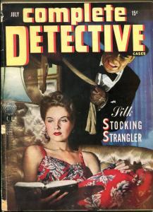 Complete Detective Cases Magazine July 1944- Silk Stocking Strangler G