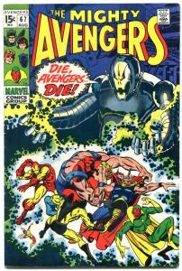 Avengers #67 1969- Classic ULTRON cover- FN+