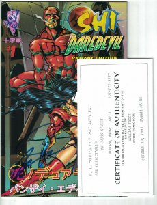 Shi/Daredevil: Honor Thy Mother #1 Banzai Edition - signed by Bill Tucci w/COA