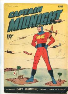 CAPTAIN MIDNIGHT #30-1945-FAWCETT-WWII COVER-fn  minus