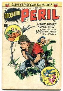 Operation Peril #1 1950- Man in drag-Time Travelers- Ogden Whitney FN-