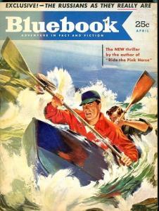 BLUE BOOK PULP-APRIL 1952-VG-FLOHERTY COVER-BALL-HUGHES-VERNAM VG