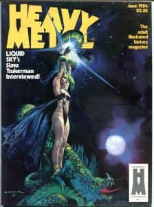 HEAVY METAL June July August 1984, Moebius, Thorne, Jeff Jones, 3 issues in all