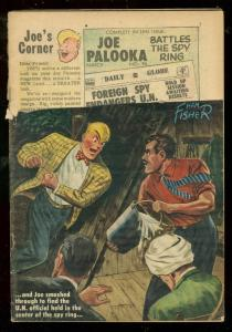 JOE PALOOKA #95 1956-HARVEY COMICS-HAM FISHER-SPY ISSUE FR/G