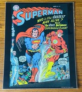 SUPERMAN #199 vs FLASH RACE 1967 COVER 11x14 POSTER PRINT NEW SEALED DC Comics