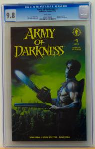ARMY of DARKNESS #1, CGC 9.8 NM/M, 1992, Evil Dead, Bruce Campbell, John Bolton