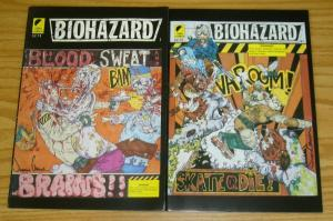 Biohazard #1-2 FN complete series - omni comics - zombie horror set lot 1990