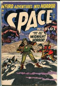 Space Worlds #6 1952-Atlas-Capt Jet Dixon-only issue-Space squadron-GOOD