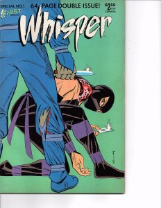 First Comics Whisper #37 & Special #1 NM Steven Grant