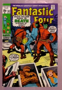 FANTASTIC FOUR #101 1970- THE THING-JACK KIRBY MARVEL VG/FN