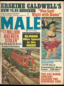 MALE MAGAZINE MAY 1964-CHEESECAKE-WILD COVER-SPIES-CIA VG