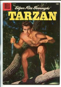 TARZAN #83-1956-DELL-GORDON SCOTT COVER- BURROUGHS- MARSH- MANNING-vg+