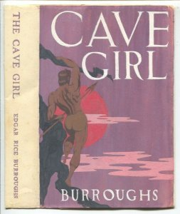 Cave Girl Hard Back Book Dust Jacket-ERB 1940's-hand made-hand painted-FN