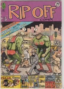 Rip Off Comix #3 (Jan-78) VG- Affordable-Grade Wonder Wart-Hog, Freak Brother...