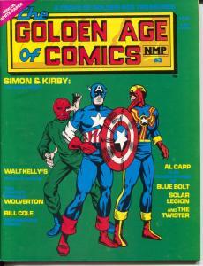 Golden Age Of Comics #3 1982-Simon & Kirby-Al Capp-Basil Wolverton-VF