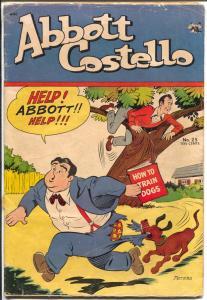 Abbott and Costello #25 1954-St John-Good Girl Art-Kubert & Maurer ad-VG