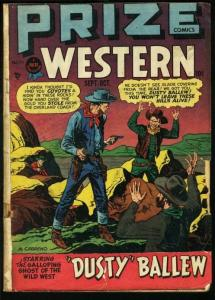 PRIZE COMICS WESTERN #71-COOL COVER GOOD ART ISSUE G