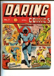 Daring Mystery #7-Blue Diamond-Captain Daring-Fin- Challenger TIMELY-glue VG