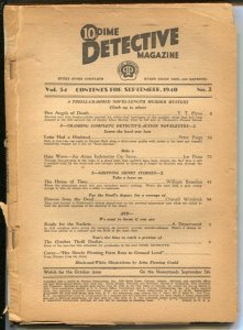 Dime Detective 9/1940-Popular-Cornell Woolrich-Flowers fFom the Dead-pulp fic...