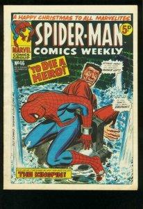SPIDER-MAN COMICS WEEKLY #46 1973-ROMITA-JACK KIRBY-BRITISH-J JONAH JAMESON FN