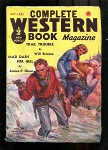 COMPLETE WESTERN PULP-1937-OCT-JAMES OLSEN-GUN BATTLE ! VG/FN