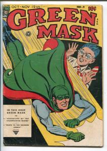 GREEN MASK #6 1946-FOX-FINAL ISSUE-HOODED COBRA-ELUSIVE SUPERHERO-fn