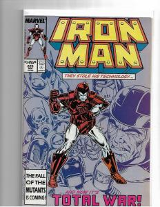 IRON MAN #225 - NM- START OF ARMOR WARS I - COPPER AGE KEY