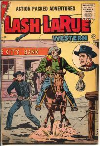 Lash LaRue Western #60 1956-Charlton-Bank robbery cover-western thrills-FN