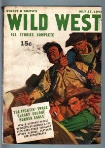 WILD WEST WEEKLY 7/17/1943-WESTERN PULP-BORDER EAGLE VF