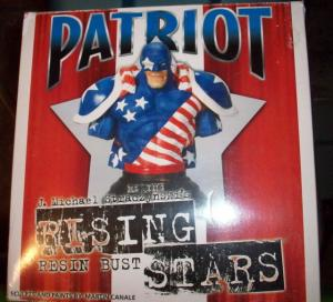 RISING STARS- PATROIT Resin Bust, Straczynski, Canale, MIB, 2000