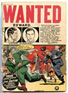 Wanted #9 1947-1st issue- Golden Age Crime G-