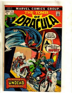 The Tomb Of Dracula # 11 FN Marvel Comic Book Blade Vampire Hunter Undead RS1