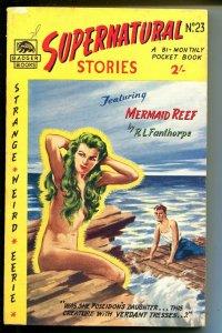 Supernatural Stories #23 1950's-Badger-British issue-weird-mermaid-eerie-FN