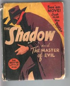 SHADOW AND THE THE MASTER OF EVIL-BIG LITTLE BOOK-#1443-1941-PULP VG