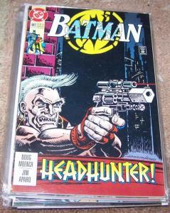 BATMAN # 487+ HEADHUNTER   1992 dc comics   JAMES GORDON GOTHAM TV