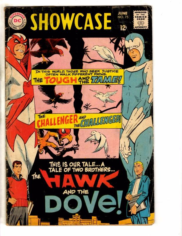 Showcase # 75 GD/VG DC Comic Book Feat. Hawk & Dove 1st Appearance JG1