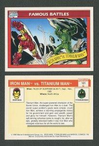1990 Marvel Comics Card  #121 ( Iron Man vs Titanium Man)  NM-MT