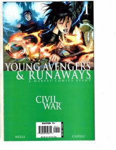 Lot Of 2 Young Avengers & Runaways Marvel Comic Books # 1 & 2 NM 1st Print AK3