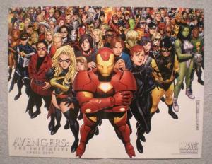 AVENGERS INITIATIVE Promo Poster, 13x10, 2007, Unused, Iron Man, Ms Marvel