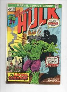 HULK #184, VG+, Living Shadow, Trimpe, Marvel, 1968 1975, Incredible
