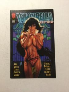 Vampirella Pin-Up Book 1 NM Signed By Adam Hughes And Caesar