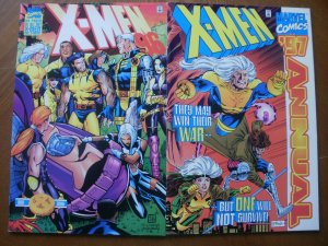 2 Near-Mint Marvel X-MEN ANNUAL Comic '96 (One Day) '97 1996 1997 (Cloud in Sky)