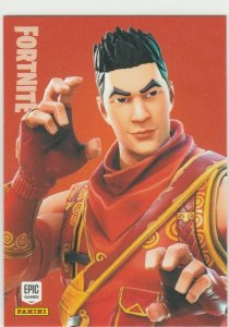 Fortnite Crimson Scout 123 Uncommon Outfit Panini 2019 trading card series 1