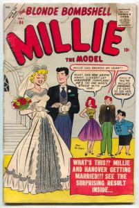 Millie the Model #84 1958- DeCarlo wedding cover- FAIR
